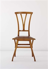 "Artwork by Henry van de Velde, ""Bloemenwerf"" chair, Made of Elm, leather, brass tacks"
