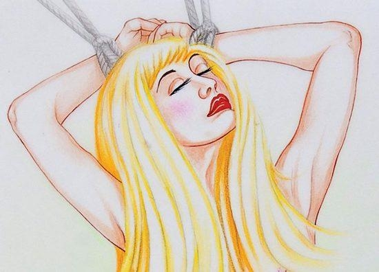 Artwork By David Wilde 7 Works The Story Of O Made Of Drawings
