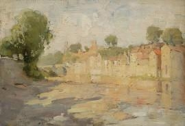 French Riverscape By W.B. McInnes