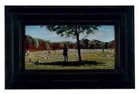 Artwork by Mark Innerst, The Great Lawn (Shaded Figure), Made of acylic on board