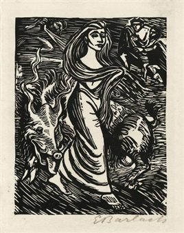 20 works: Goethe Walpurgisnacht By Ernst Barlach ,1923