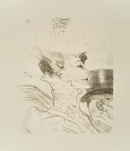 Artwork by Henri de Toulouse-Lautrec, Yvette Guilbert, Saluant le Public, Made of Lithograph