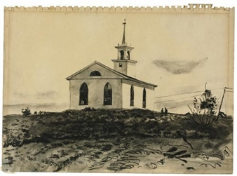 "The second Baptist ""Ridge"" Church, Martinsville By Andrew Wyeth"