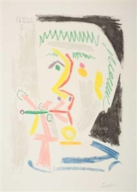 Artwork by Pablo Picasso, Le Fumeur, Made of Color aquatint