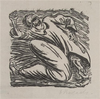 A pair of works By Ernst Barlach