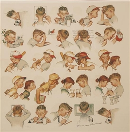 Artwork by Norman Rockwell, Day in the Life of a Boy, Made of lithograph