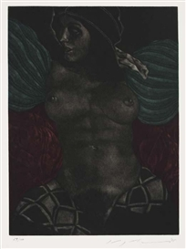 Artwork by Masuo Ikeda, Vingar/Wings, Made of Color mezzotint