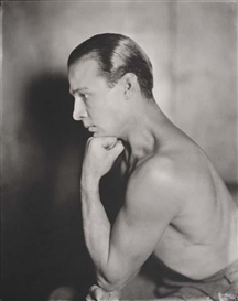 Artwork by James Abbe, Rudolph Valentino, Made of Silver contact print