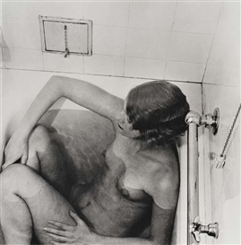 Artwork by Lee Miller, Lee Miller in Bath, Grand Hotel, Stockholm, Made of Silver print