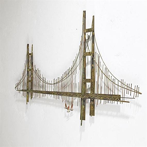Jere Curtis | Wall Sculpture of the Golden Gate Bridge | MutualArt