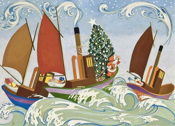 artwork by james clark 2 works we three kings i saw three ships