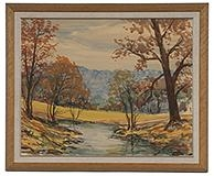 Artwork by William Harold Hancock, Indiana Landscape, Made of Watercolor