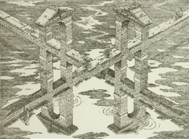 Artwork by István Orosz, Crossroads, Made of etching