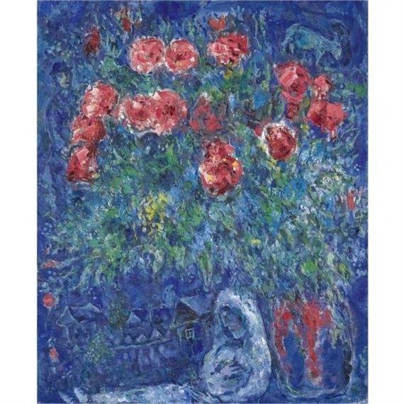 marc chagall les mari s et le bouquet de fleurs. Black Bedroom Furniture Sets. Home Design Ideas