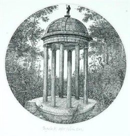 Artwork by István Orosz, Pergola II, Made of etching