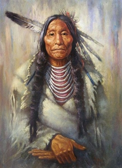 PORTRAIT OF A NATIVE ELDER By Vilem Zach