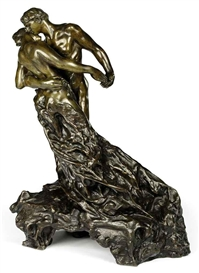 Artwork by Camille Claudel, La valse ou Les valseurs, Made of bronze with brown and light brown patina