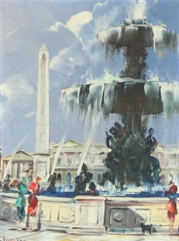 """Place de la Concorde"" By Maurice Legendre"