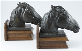 Artwork by Alexander Phimister Proctor, With Texas Memories, Made of bronze bookends