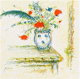 Artwork by André Bicât, Tuscan Bunch, Made of Lithograph in colours
