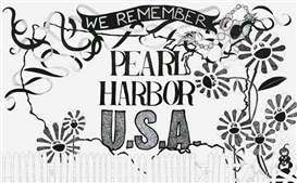 Aleksandra Mir, We Remember Pearl Harbour USA (from The Church of Sharpie project) (8 parts)