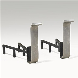 Donald Deskey, Aluminum and steel andirons