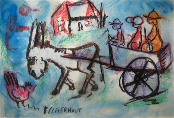 Claerhout Frans | THE DONKEY CART | MutualArt