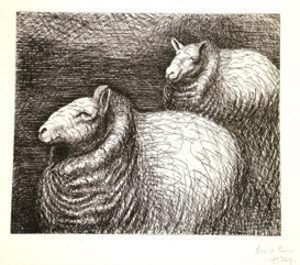 "Henry Moore, ""Ready for Shearing"", from The Sheep Album"
