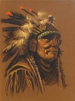 PORTRAIT IN HEADDRESS By Vilem Zach