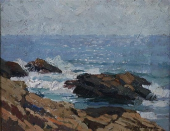 ROCKY COAST, CAPE ANN, MASSACHUSETTS By Frederick J. Mulhaupt