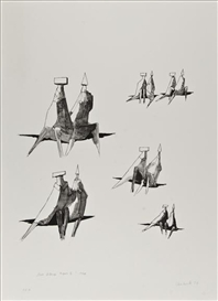 Artwork by Lynn Chadwick, Reclining Figures II, Made of lithograph