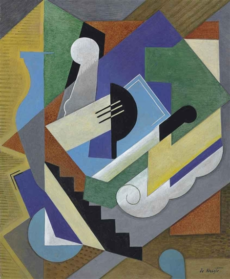 Bela de kristo le trio classique oil on canvas for Abstraction geometrique