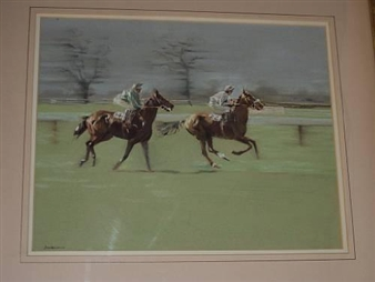 3 works: Race horses and jockeys By P. K. C. Jackson