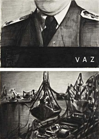 Artwork by Marcel van Eeden, 2 Works: Untitled (Vaz) ; Untitled (Boats), Made of Charcoal on paper