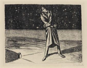 2 works: Der Arme Vetter; Rastlose Liebe By Ernst Barlach ,1917