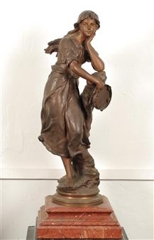 Jeune femme à la cymbale By Eugène Marioton