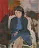 Eliane De Meuse, Jeune fille à la robe bleue