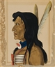 Wilhelm Emile Charles Adolphe De Specht, Profile portrait of Native American