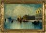 George Henry Bogert, Venetian scene with gondolas