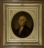 Unknown , George and Martha Washington, pair of framed oval print portraits