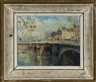Jean Salabet, Parisian scene of river and bridge