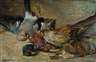 Vaclav Soucek, Nature morte depicting three birds