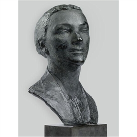 Artwork by Charles Despiau, Woman's Head, Made of Bronze