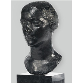 Artwork by Charles Despiau, Berthe (Mlle. Simon), Made of Bronze