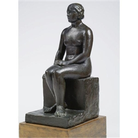Artwork by Charles Despiau, Seated Woman, Made of Bronze
