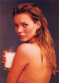 Artwork by Annie Leibovitz, Kate Moss, Got Milk?, Made of Colour photograph