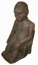 Artwork by Noria Mabasa, SEATED FIGURE, Made of bronze