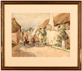 Edmund Henry Garret, Returning from a Fox Hunt along a Village Street