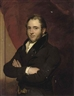 Sir George Hayter, Portrait of a gentleman, half-length, in a brown coat with a black velvet collar