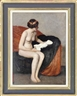 British School, 20th Century, Seated nude, holding a sculpture